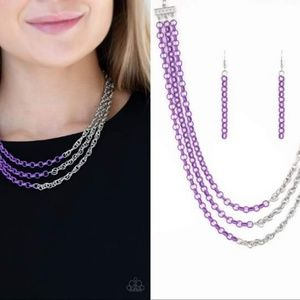 Dual-Colored Necklace Set - Fashion Accessories